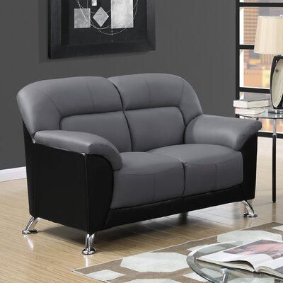 Bonnell Loveseat Color: Dark Grey/Black