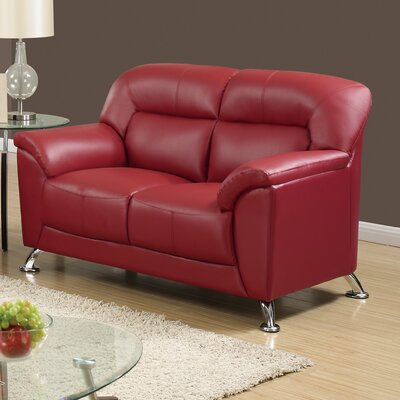 Bonnell Loveseat Color: Red