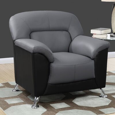 Bonnell Armchair Color: Dark Grey/Black