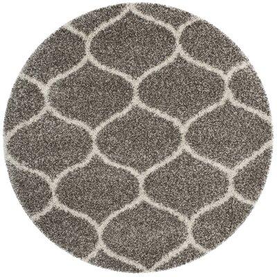 Elizabeth Street Gray / Ivory Area Rug Rug Size: Round 7 x 7