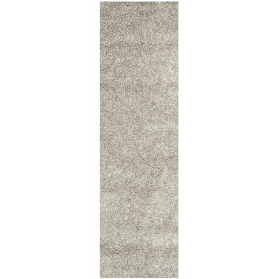 Holliday Silver Area Rug Rug Size: Runner 23 x 8