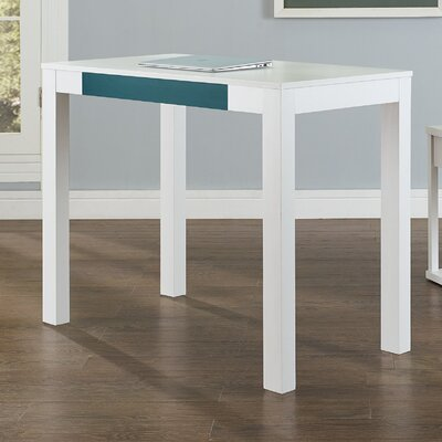 Oday Writing Desk Finish: White / Teal