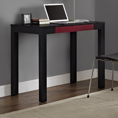 Oday Writing Desk Finish: Black Oak / Red Inside