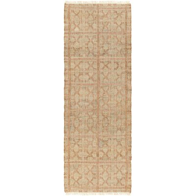 Arcuri Hand-Woven Beige/Salmon Area Rug Rug Size: 9 x 13