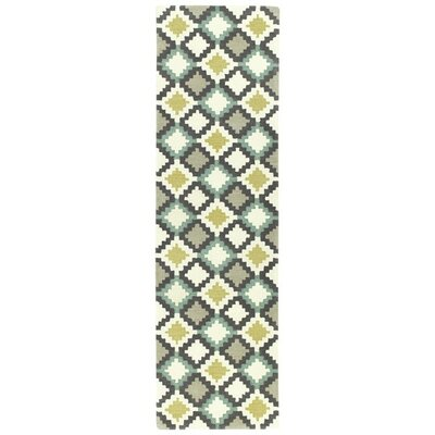 Hinton Charterhouse Hand-Tufted Ivory Area Rug Rug Size: Runner 23 x 8