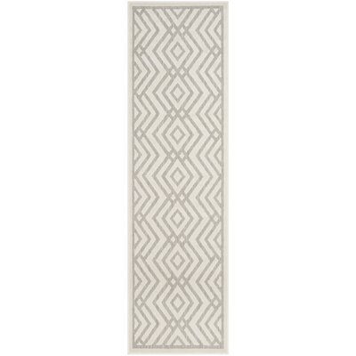 Cabana Light Gray/Cream Indoor/Outdoor Area Rug Rug Size: Runner 23 x 8