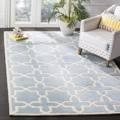 Wilkin Blue & Ivory Area Rug Rug Size: Square 5
