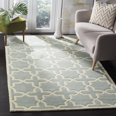 Wilkin Hand-Woven Gray Area Rug Rug Size: Rectangle 5 x 8