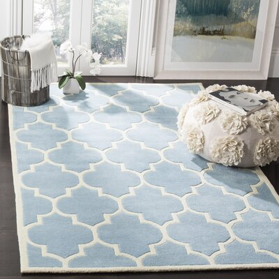 Wilkin Blue/Ivory Moroccan Area Rug Rug Size: 5' x 8'