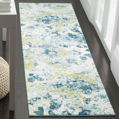 Seyler Beige/Blue Area Rug Rug Size: Rectangle 22 x 4