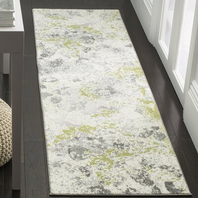 Seybert Beige/Gray Area Rug Rug Size: Rectangle 67 x 9