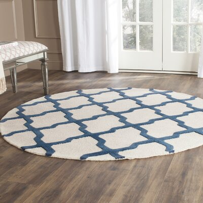 Charlenne Wool Area Rug Rug Size: Round 6