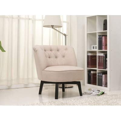Santillan Swivel Slipper Chair Upholstery: Beige