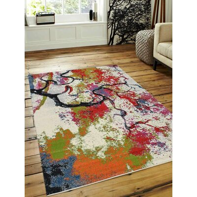 Chumbley Green/Red Area Rug Rug Size: Rectangle 4 x 6