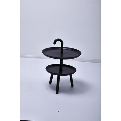 Chamorro Round Top Side Table Color: Black