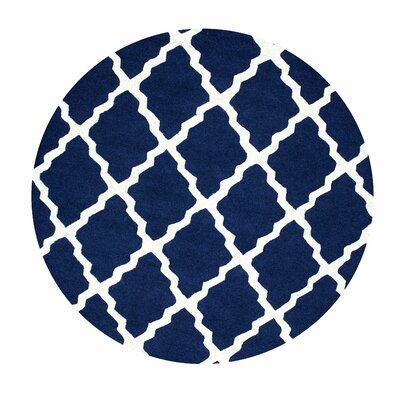 Bullock Moroccan Trellis Navy Area Rug Rug Size: Rectangle 36 x 56