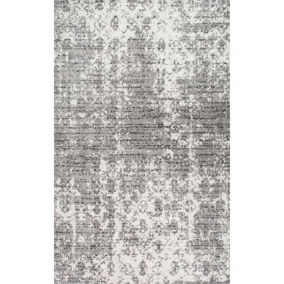 Bloom Gray Area Rug Rug Size: Rectangle 10 x 14