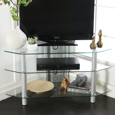 Pinson 44 Corner TV Stand Color: Silver
