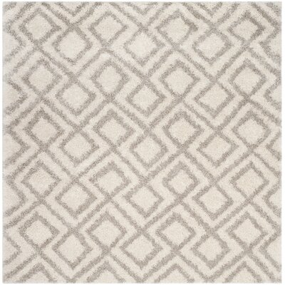 Amicus Ivory/Beige Area Rug Rug Size: Square 67