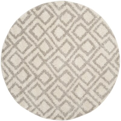 Amicus Ivory/Beige Area Rug Rug Size: Round 67