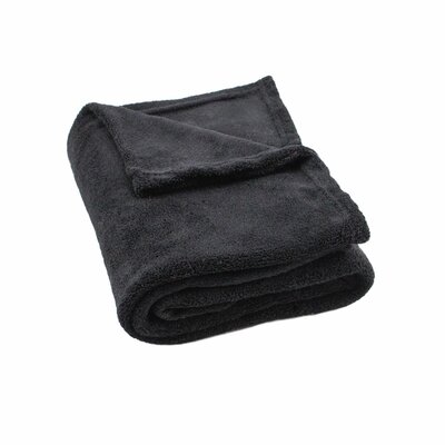 Gideon Plush Throw Color: Black