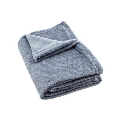 Gideon Plush Throw Color: Gray