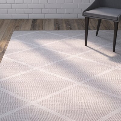 Shevchenko Place Hand-Woven Cream Area Rug Rug Size: Rectangle 3 x 5