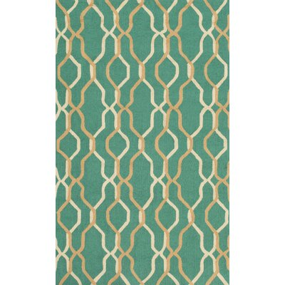 Kinde Teal Indoor/Outdoor Rug Rug Size: 9' x 12'