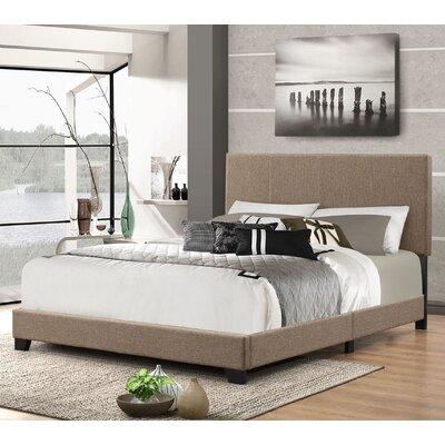 Eleven Avenue Queen Upholstered Platform Bed Color: Espresso