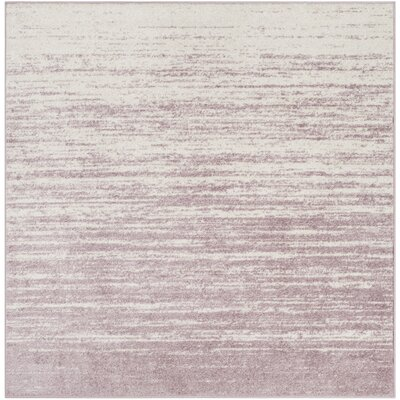 Schacher Purple/Cream Area Rug Rug Size: Square 6