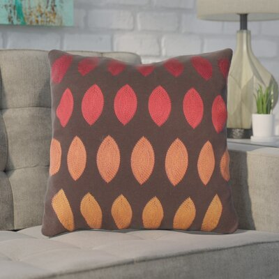 Argus Linen Throw Pillow Color: Red