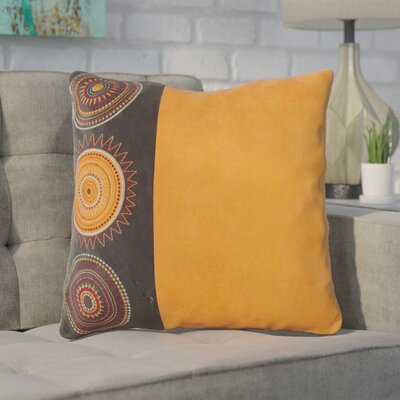 Aretha Throw Pillow Color: Orange