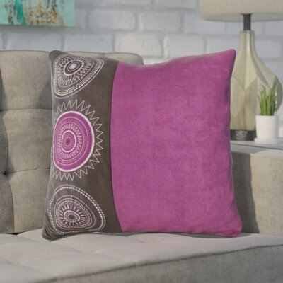 Aretha Throw Pillow Color: Purple
