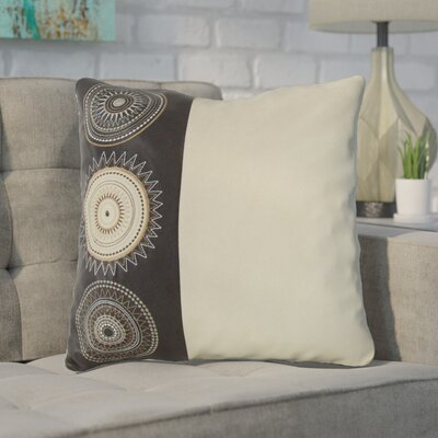 Aretha Throw Pillow Color: Cream