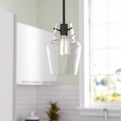 Roslindale 1-Light Mini Pendant Finish: English Bronze