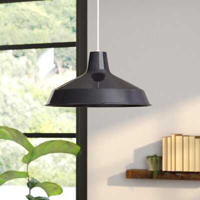 Woodsen 1-Light Inverted Pendant Finish: Black