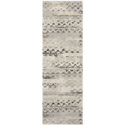 Sabang Cream / Gray Area Rug Rug Size: Runner 23 x 9