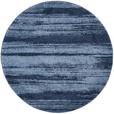 Tenth Avenue Light Blue Area Rug Rug Size: Round 6 x 6