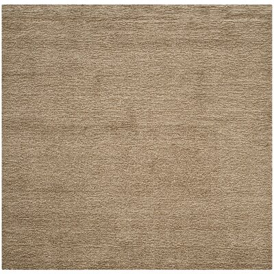 Bolick Brown Solid Area Rug Rug Size: Square 6