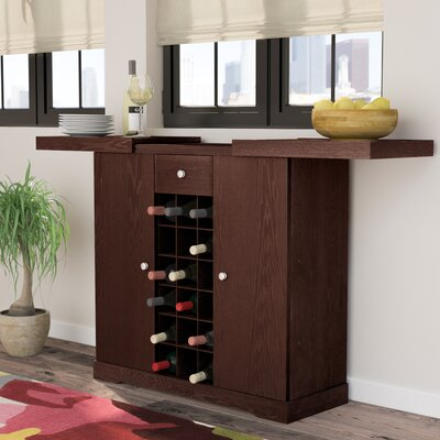 Alveston Bar with Wine Storage Finish: Espresso