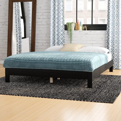 Jerrica Platform Bed Size: Twin, Finish: Black