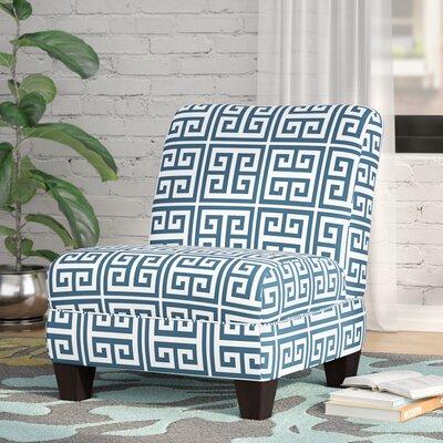 Havertown Slipper Chair Upholstery: Blue