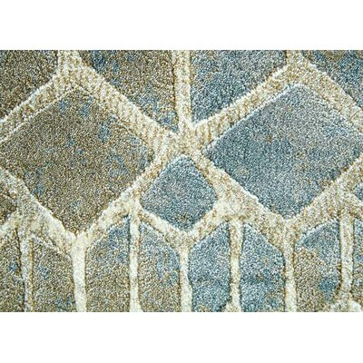 Brunelle Brown/Blue Area Rug Rug Size: 53 x 76