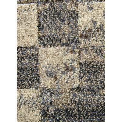 Heiser Tan/Gray Area Rug Rug Size: Rectangle 710 x 1010