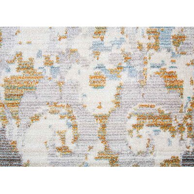 Carly Antique White/Tourmaline Area Rug Rug Size: 9 x 12