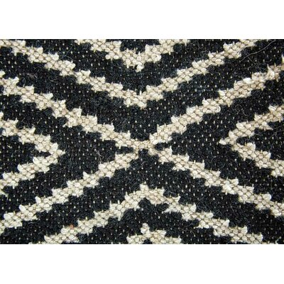 Heise Black/Beige Indoor/Outdoor Area Rug Rug Size: 2 x 3