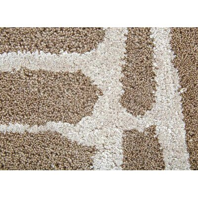 Heinrich Hand-Tufted Brown/Silver Area Rug Rug Size: 9 x 12