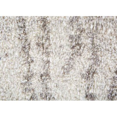 Easmor Hand-Knotted Cream/Brown Area Rug Rug Size: 8 x 10