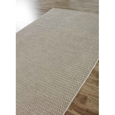 Brummett Hand-Woven Gray Indoor/Outdoor Area Rug Rug Size: 5 x 8