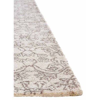 Dylan Hand-Tufted Ivory/Taupe Area Rug Rug Size: Rectangle 5 x 8